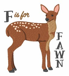 F Is For Fawn embroidery design