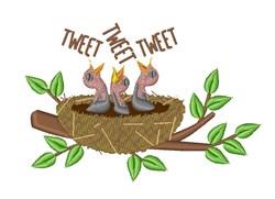Bird Tweet embroidery design