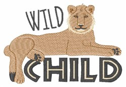 Wild Child Lion embroidery design