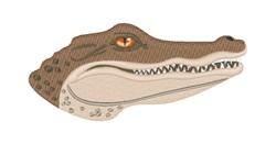 Crocodile Head embroidery design