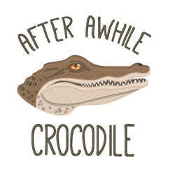 Awhile Crocodile embroidery design