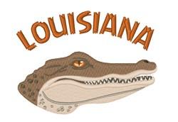 Louisiana Crocodile embroidery design