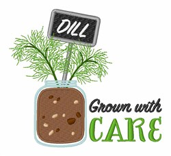 Grow Dill embroidery design