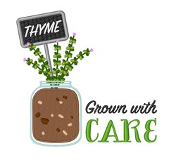 Grow Thyme embroidery design