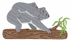Koala Bears embroidery design