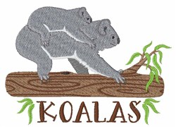Koalas embroidery design
