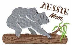 Aussie Mom embroidery design