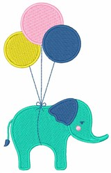 Elephant Balloons embroidery design