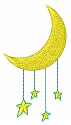 Moon & Stars embroidery design
