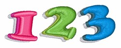 123 Numbers embroidery design