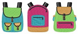School Backpacks embroidery design