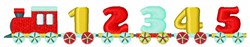 123 Train embroidery design