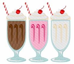 Milkshakes embroidery design