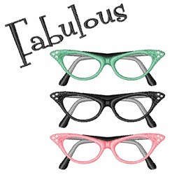 Fabulous Glasses embroidery design