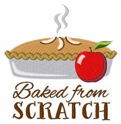 Baked From Scratch embroidery design