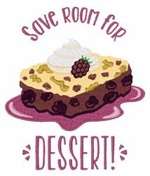 Save Room For Dessert embroidery design
