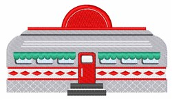 Retro Diner embroidery design