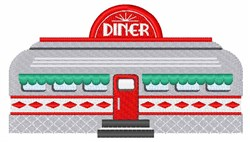Rail Car Diner embroidery design