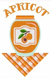 Apricot Jar embroidery design