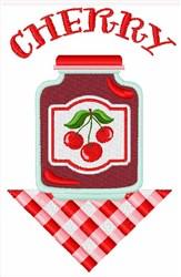 Cherry Jar embroidery design