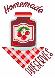Homemade Preserves embroidery design