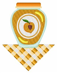 Peach Jam embroidery design