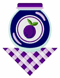 Plum Jam embroidery design