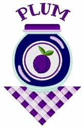 Plum Preserves embroidery design