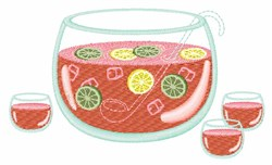 Fruit Punch embroidery design