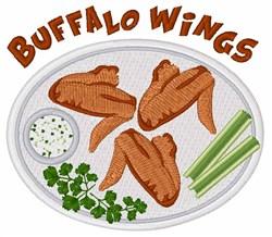 Buffalo Wings embroidery design