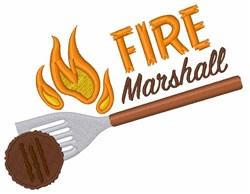 Fire Marshall embroidery design