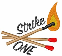 Strike One embroidery design