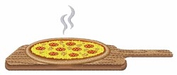 Oven Baked Pizza embroidery design