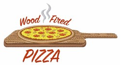Wood Fired Pizza embroidery design