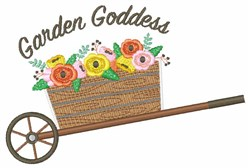 Garden Goddess embroidery design