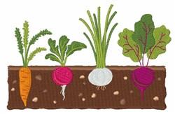 Vegetable Garden embroidery design
