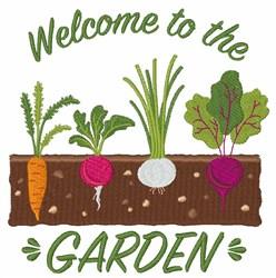 Garden Welcome embroidery design