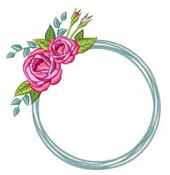 Rose Wreath embroidery design