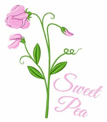 Sweet Pea embroidery design