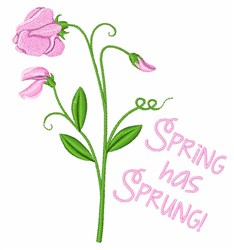 Spring Has Sprung embroidery design