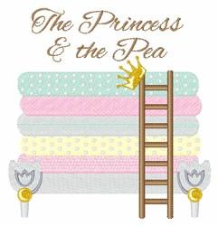 Princess And Pea embroidery design