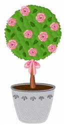 Rose Topiary embroidery design