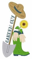 Garden Guy embroidery design