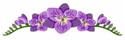 Freesia Flowers embroidery design