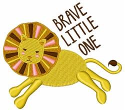 Brave Little Lion embroidery design