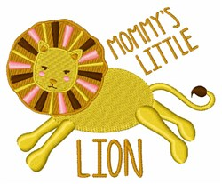 Mommys Little Lion embroidery design
