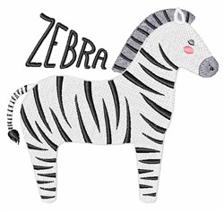 Zebra embroidery design