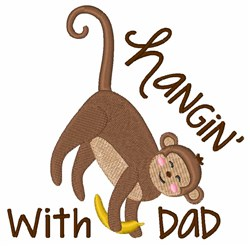 Hangin With Dad embroidery design