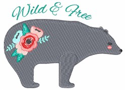 Wild & Free Bear embroidery design