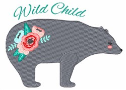 Wild Child Bear embroidery design